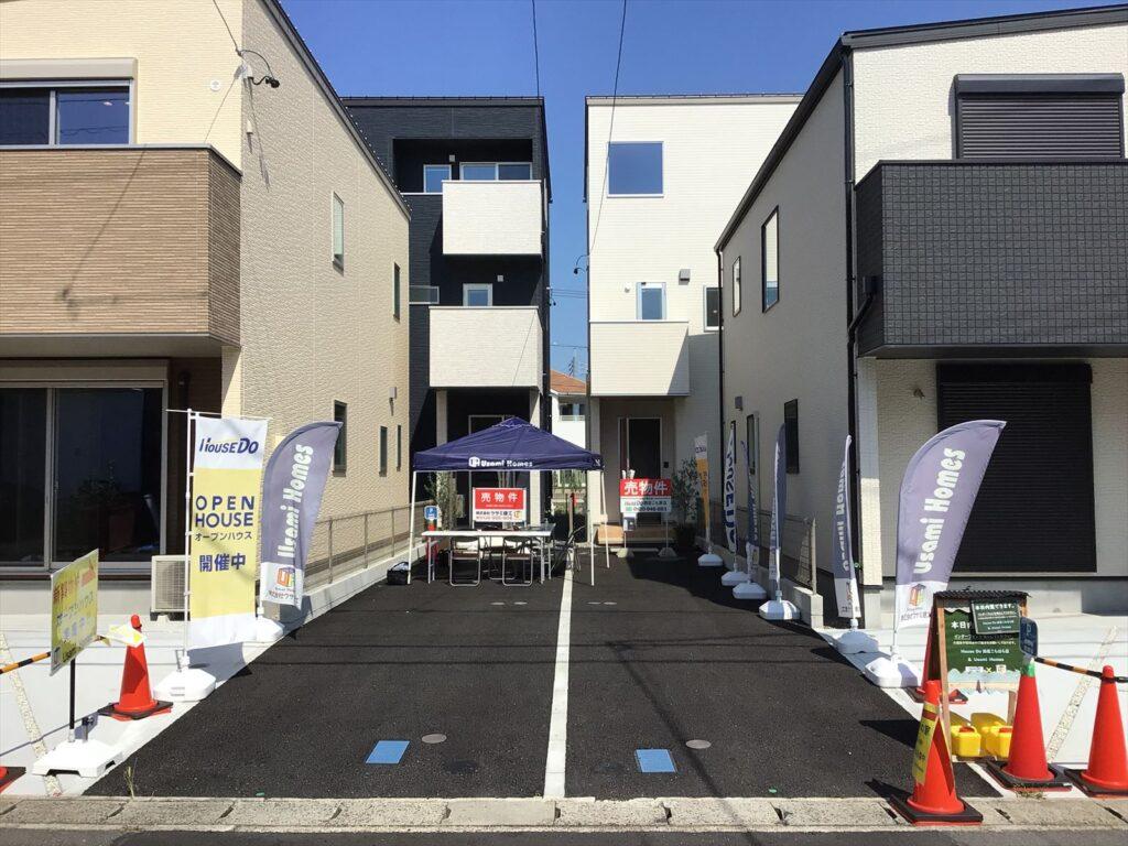 愛知県春日井市の住宅イベント会場の設置雰囲気